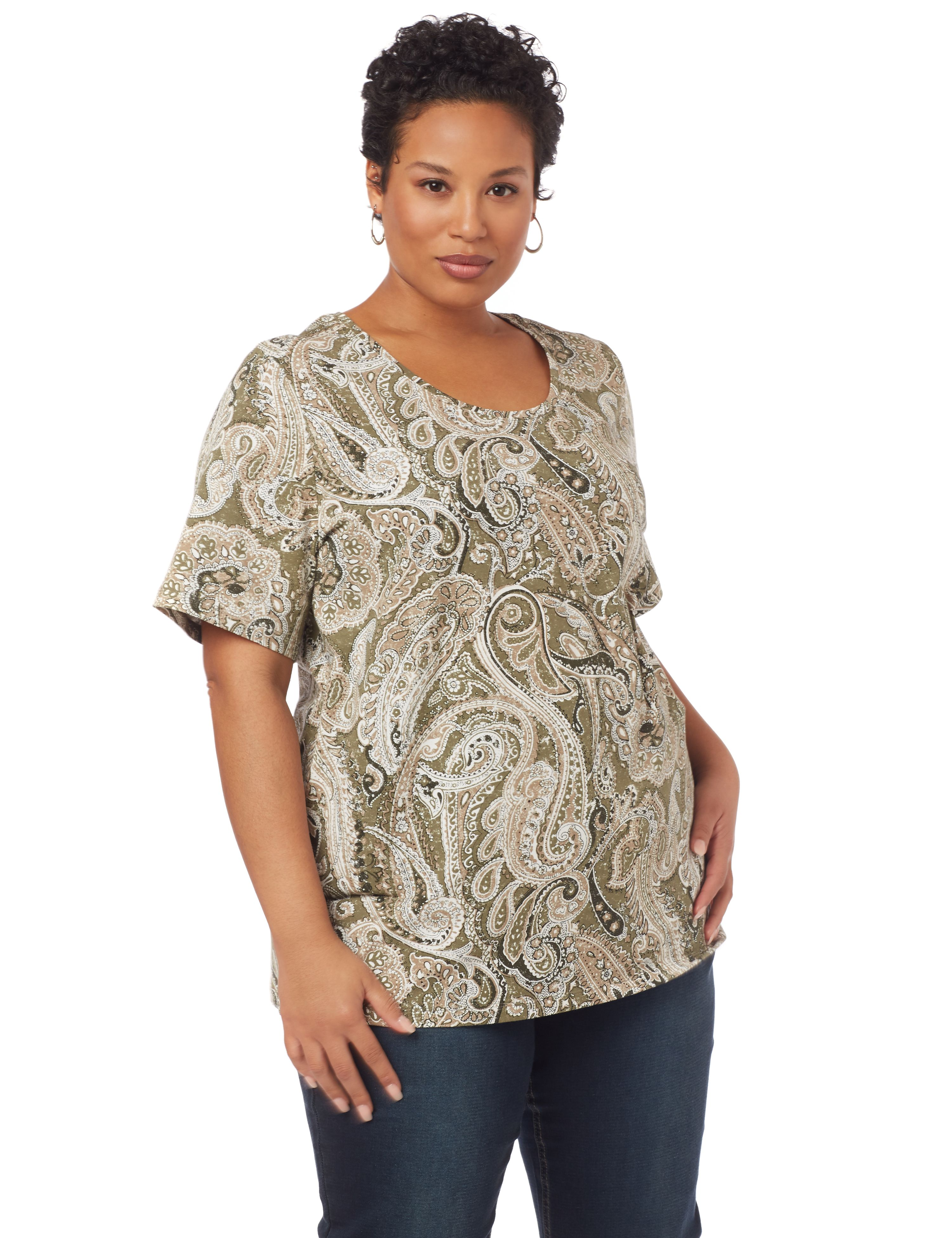 Paisley Dream Short-Sleeve Top 1087870 SS A/O PAISLEY PRINT MP-300094973