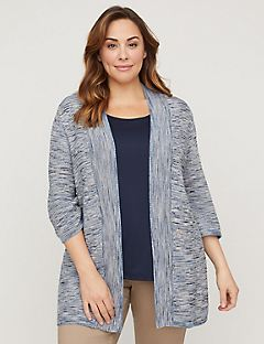 Multi-Stitch Skylight Cardigan
