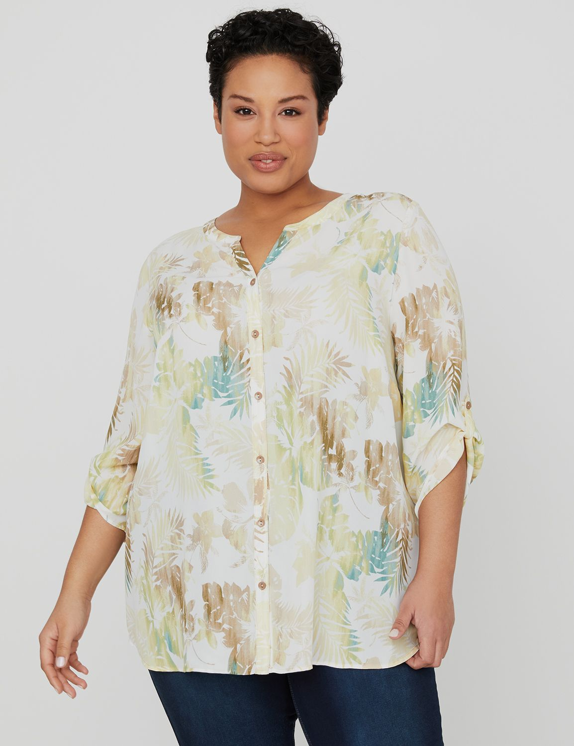 Canyon Shade Buttonfront Top 1090503 Opaque GGT Bttn Front Blous MP-300103549