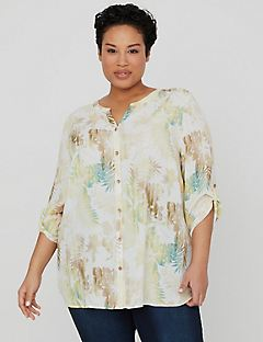 Canyon Shade Buttonfront Top