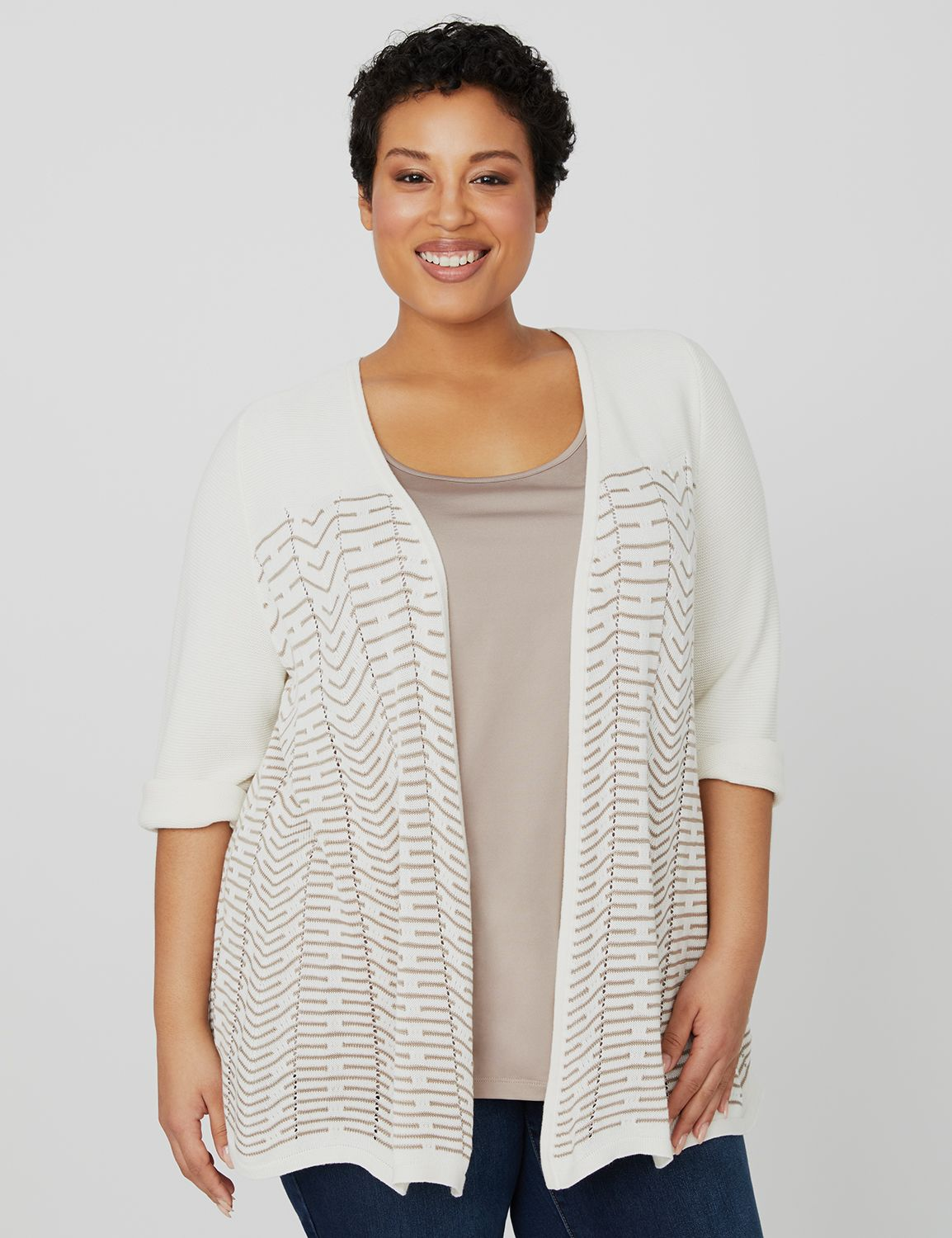 Peaceful Wave Cardigan 1087941 WaveStitch OpenCardi MP-300095850