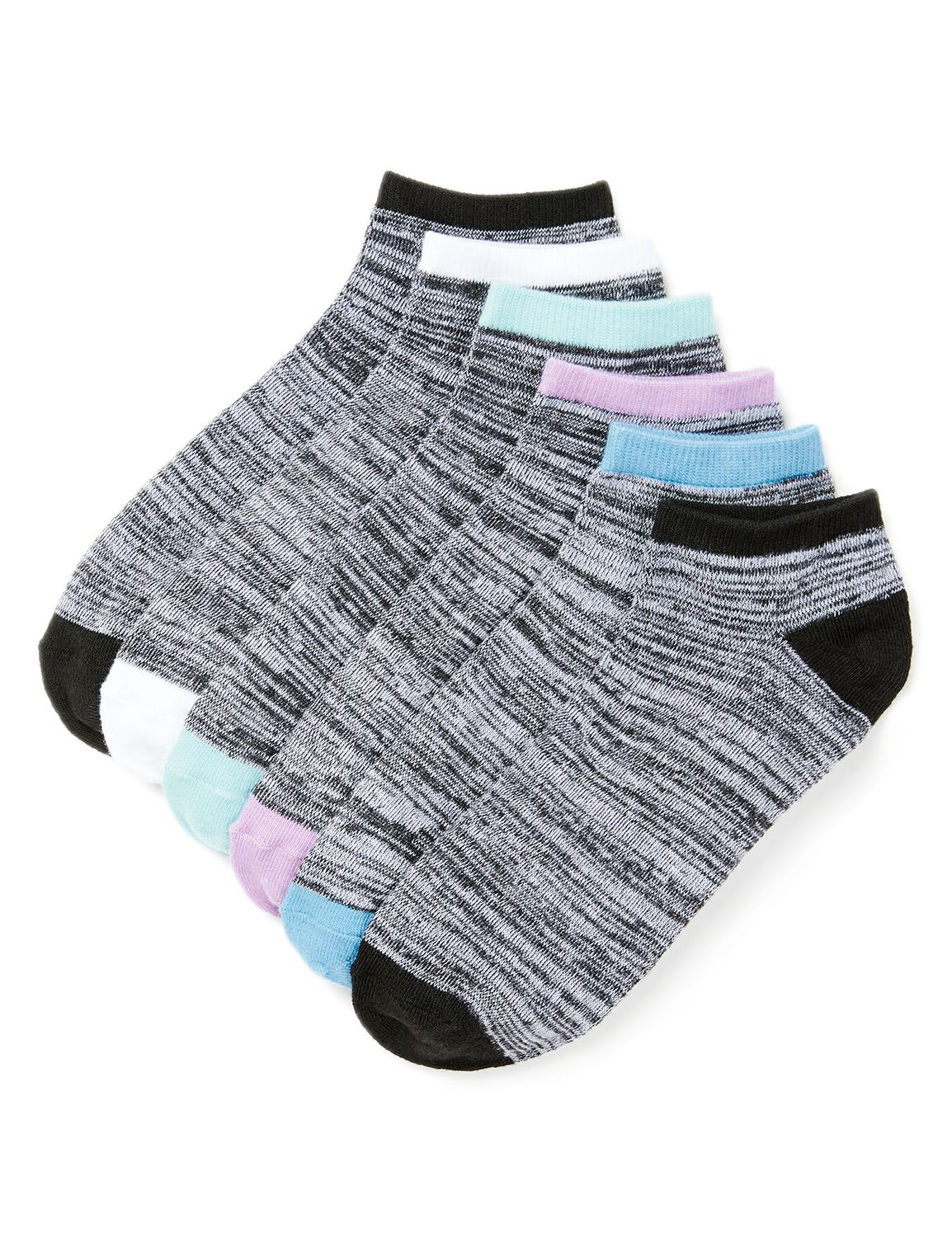 Pastel Pop 6-Pack Socks Act 6pk lw ct basic pastels MP-300094402