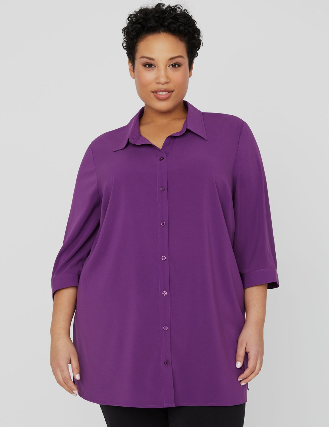 Lounge Buttonfront Shirt 1090370 Easy Bttn Front Shirt MP-300096473