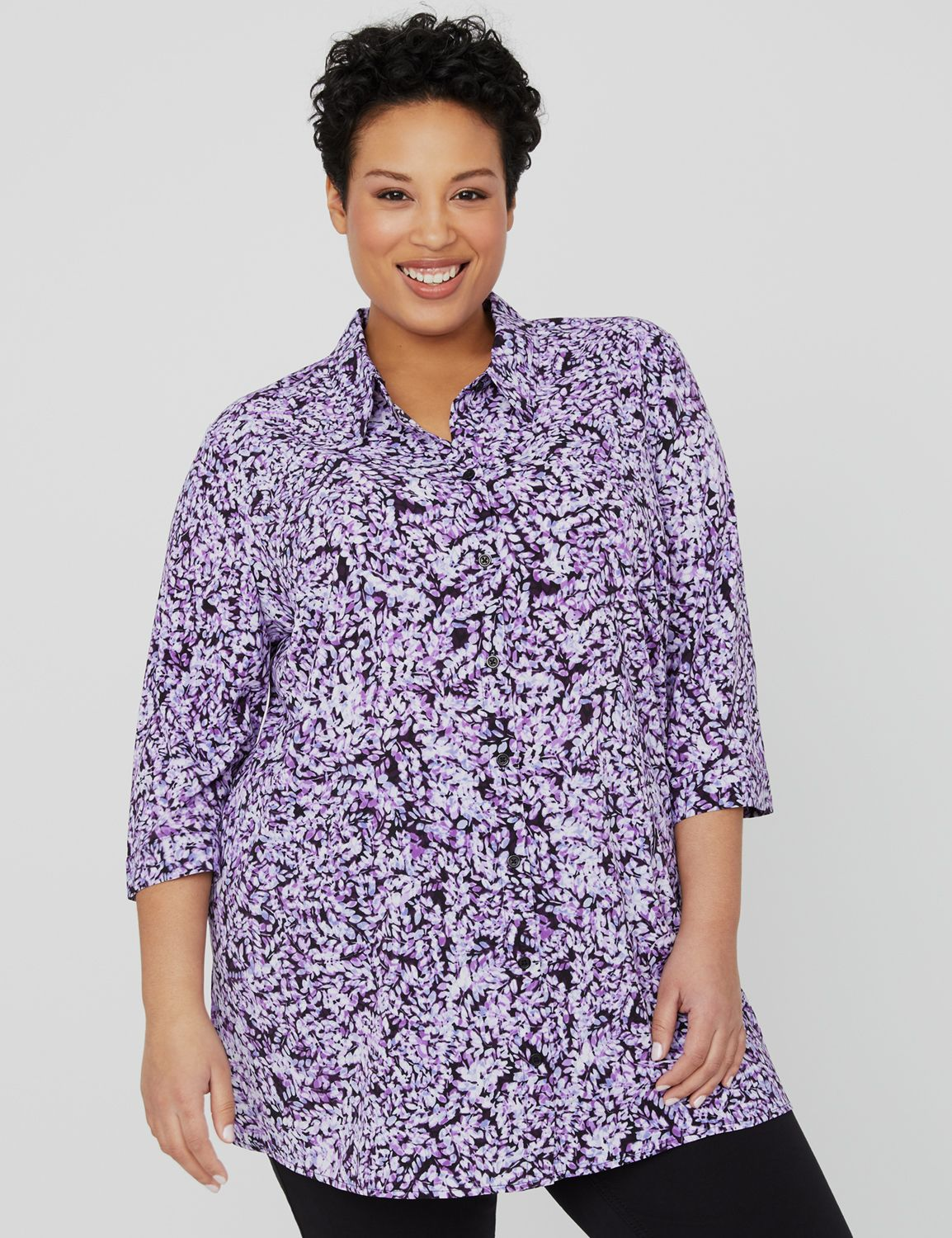 Lounge Buttonfront Shirt 1090370 Easy Bttn Front Shirt MP-300095980