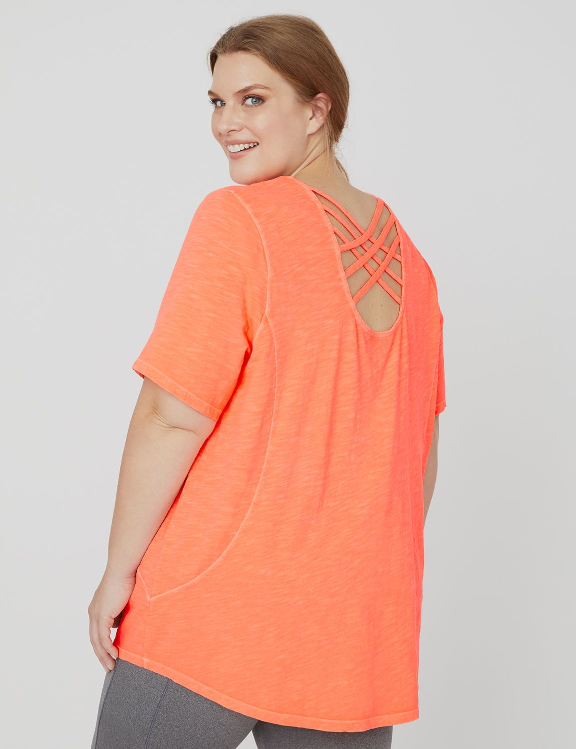 Short-Sleeve Crisscross Active Tee 1088551 SS Criss-Cross Back Top MP-300097728