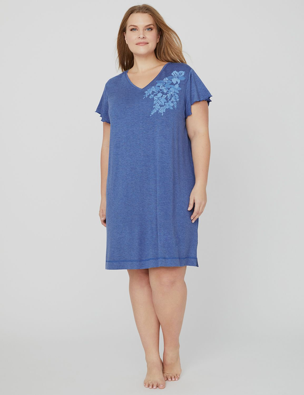 Embroidered Terry Sleep Tee 1088486- Embroidered SS f/t sleepsh MP-300096256