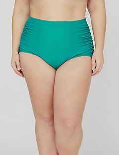 Ruched Swim Tummy Control Bottom