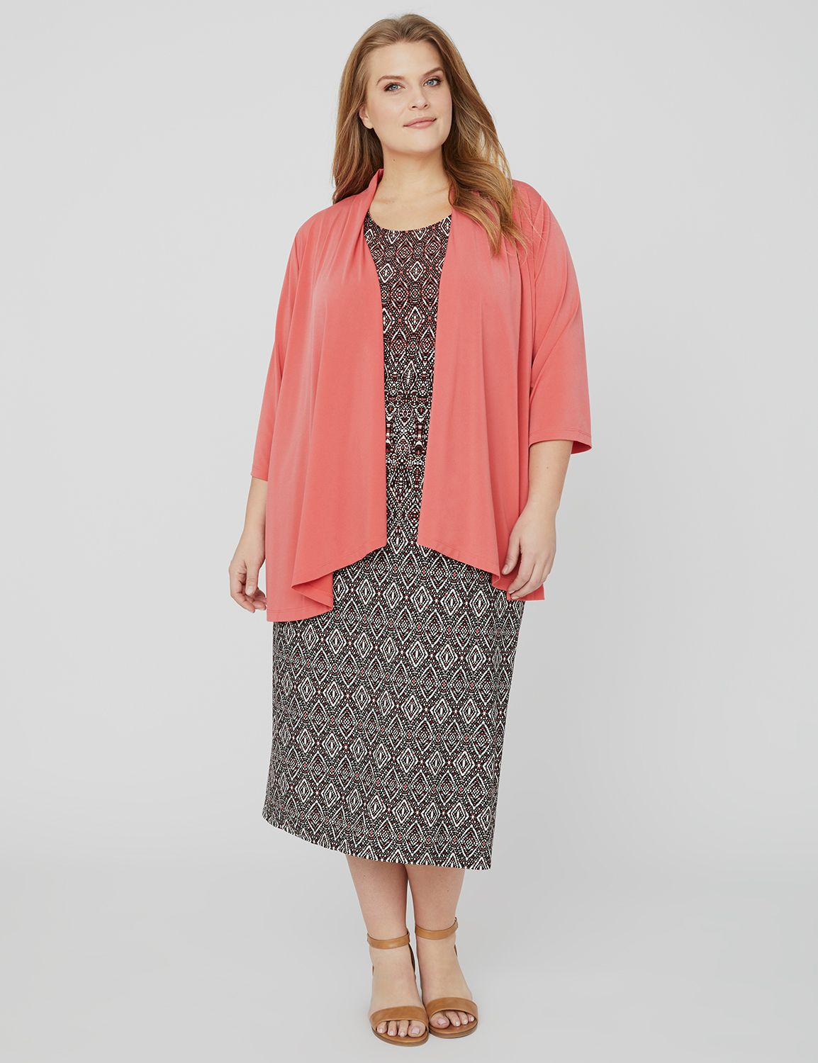 Modern Jacket Dress 1090057 ITY Solid Jacket with Print MP-300097008