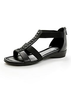 Good Soles Back-Zip Sandal