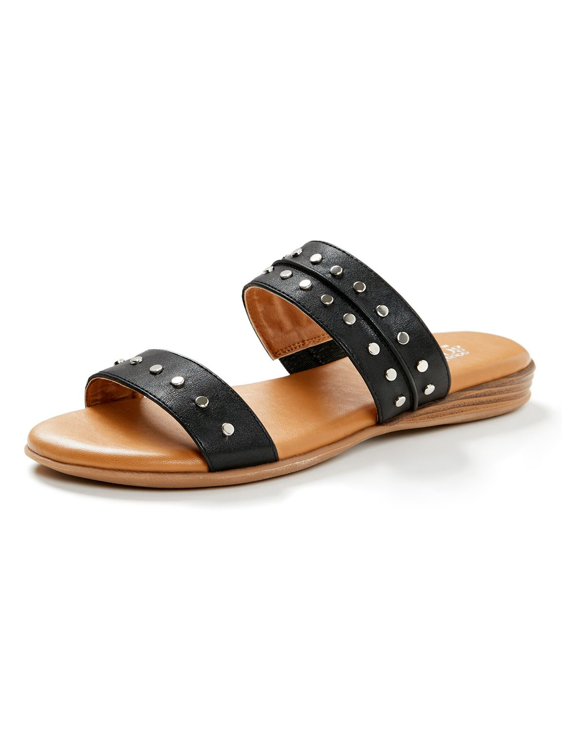 Good Soles Studded Sandal Double Strap w/ Nail Heads Slip on MP-300097245