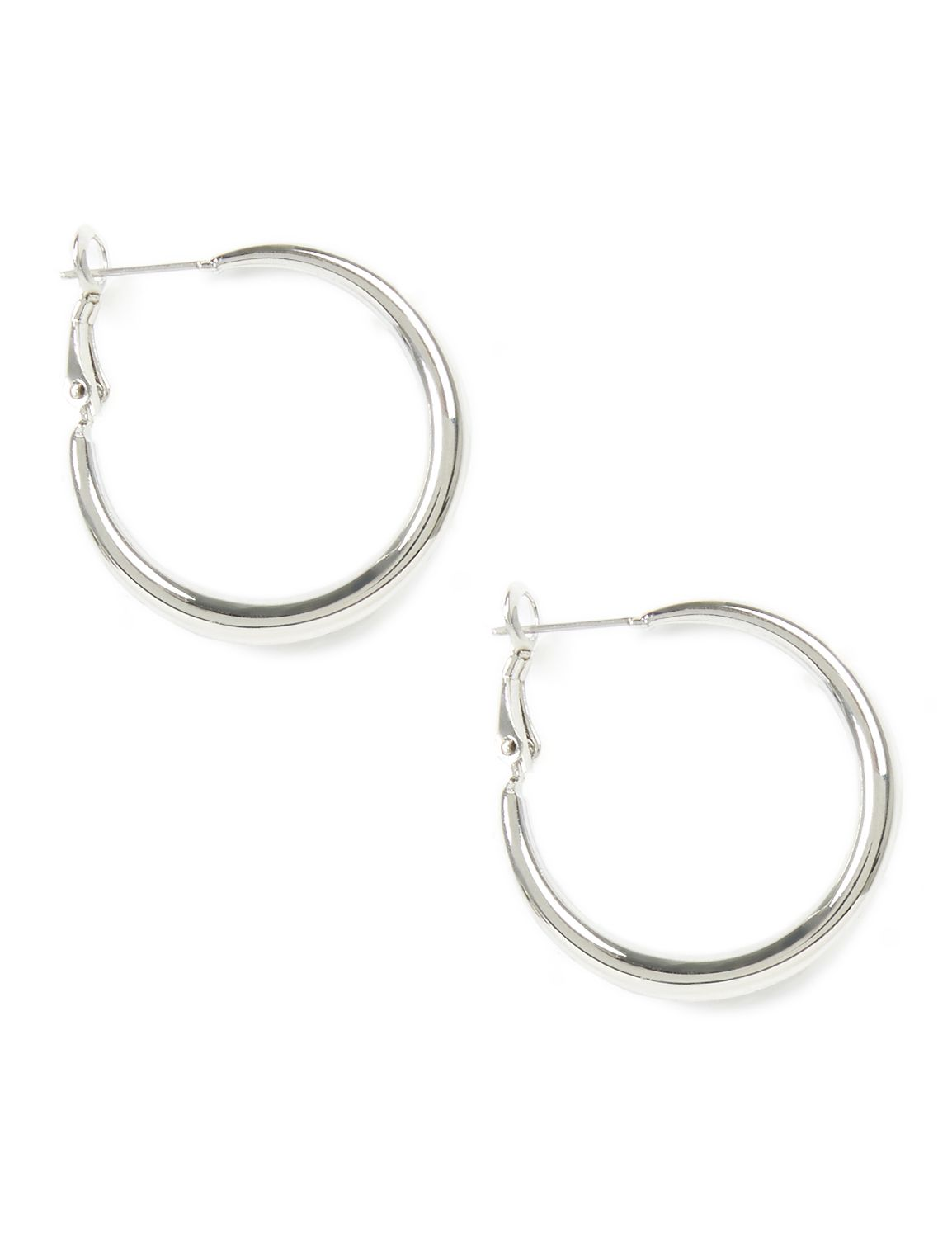 Infinity Hoop Earrings CB Smooth silver hoop PE TD-M3068 MP-300097188
