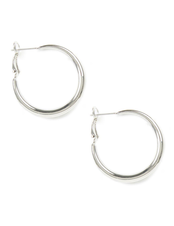 Infinity Hoop Earrings CB Smooth silver hoop PE TD-M3068 MP-300097188