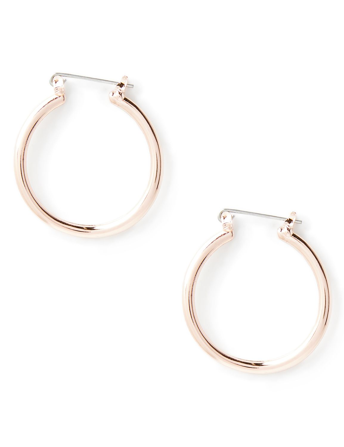 Polished Loop Earrings NBF Wavy hoop PE 521597EZ MP-300097670