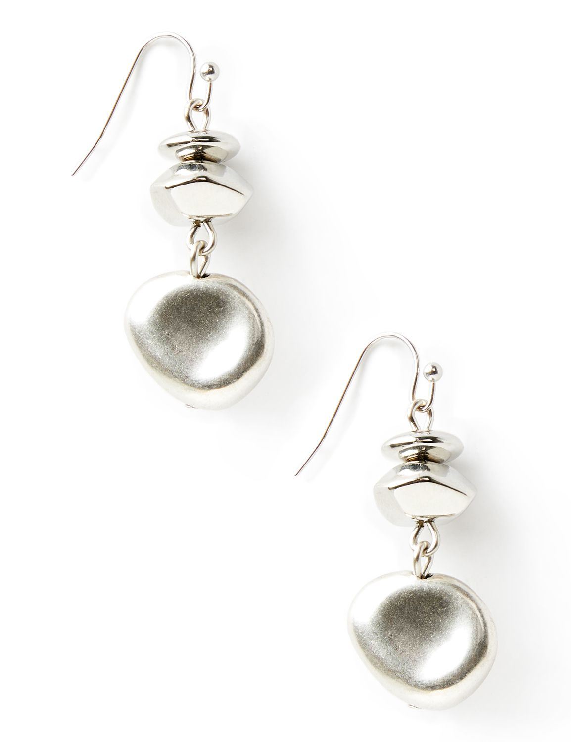 Infinity Drop Earrings NHF drop matte silv bead PE 8/18A MP-300097186