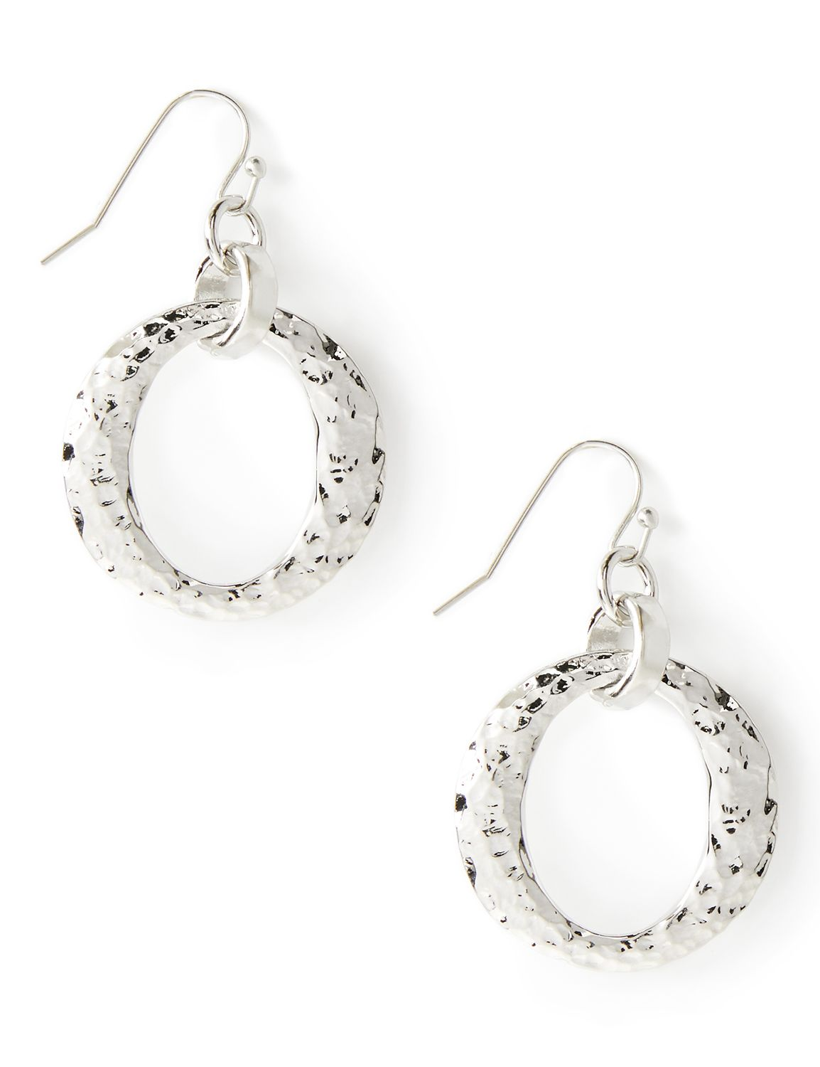 Hammered Drop Earrings NBF Drop hmmrd ring PE 10/21A MP-300096662