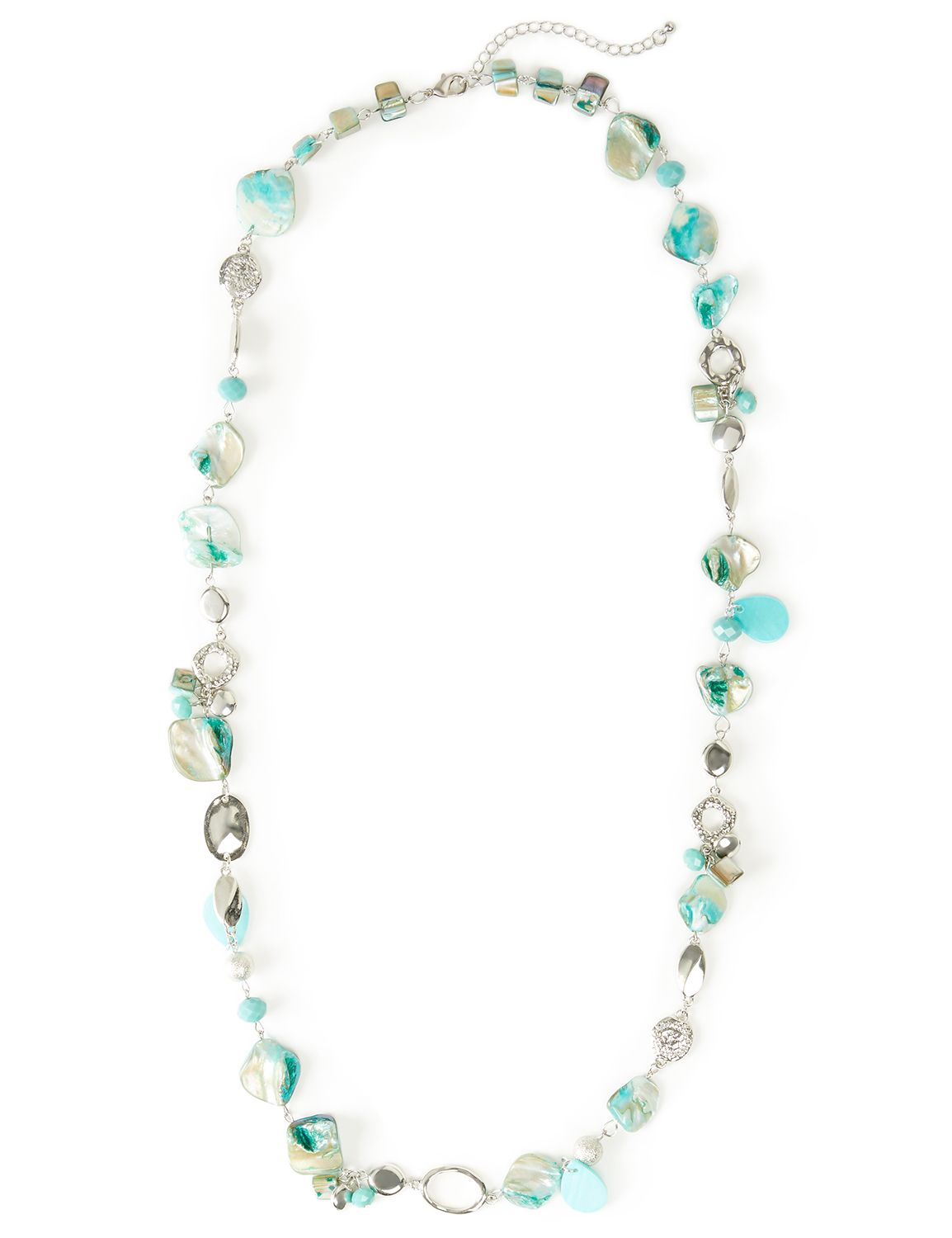 Maldives Shell Necklace CB Long Shell Rope teal NK 409385NZ MP-300097706
