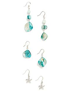 Aqua Sand Dune Earrings