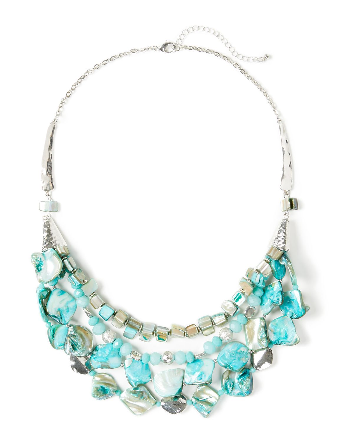 Monaco Reef Necklace CB Short Shell bib teal NK 409388NZ MP-300097703