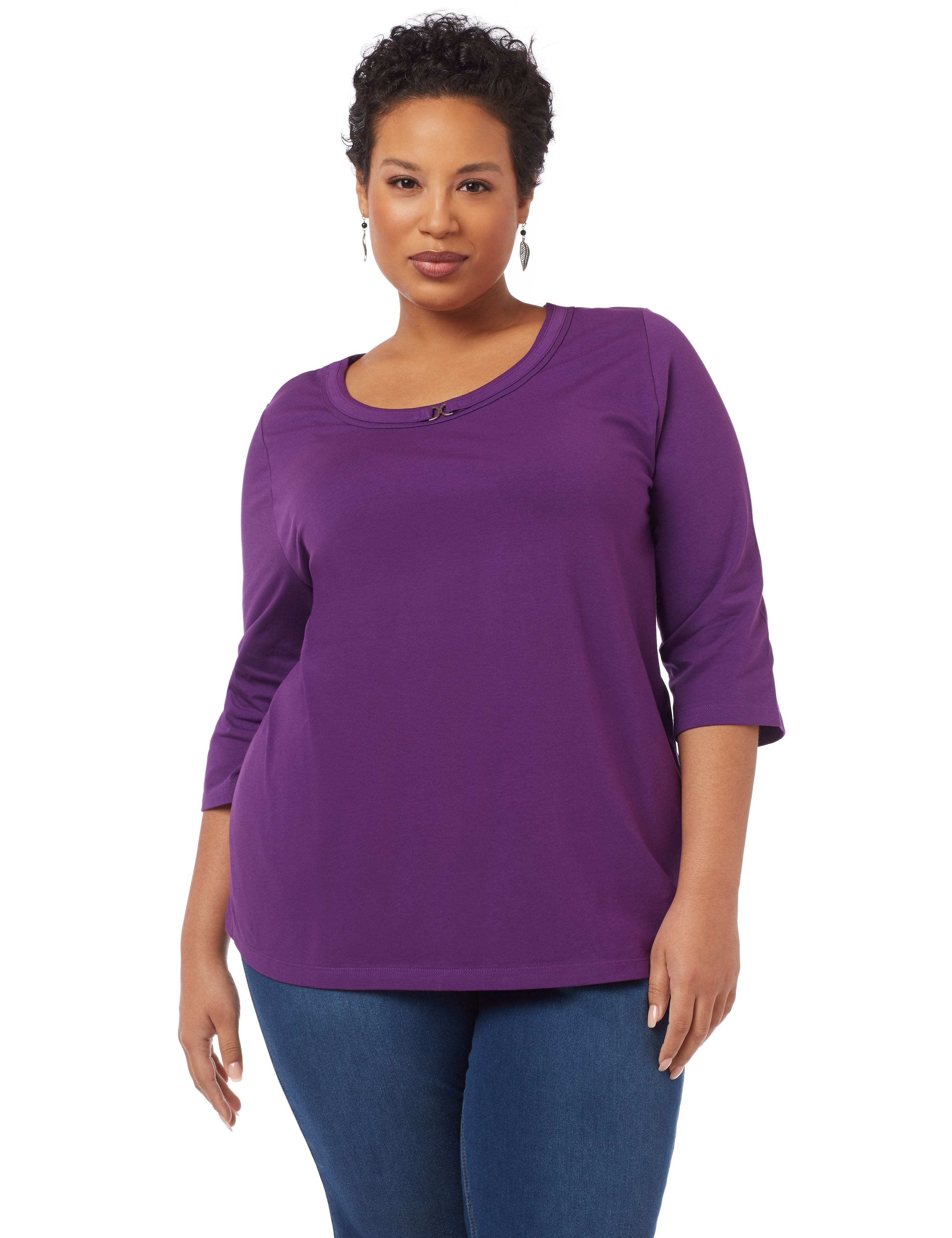 Suprema Accent Tee 1087926-3QSlv Scoop Neck W/ CF Hard MP-300098057