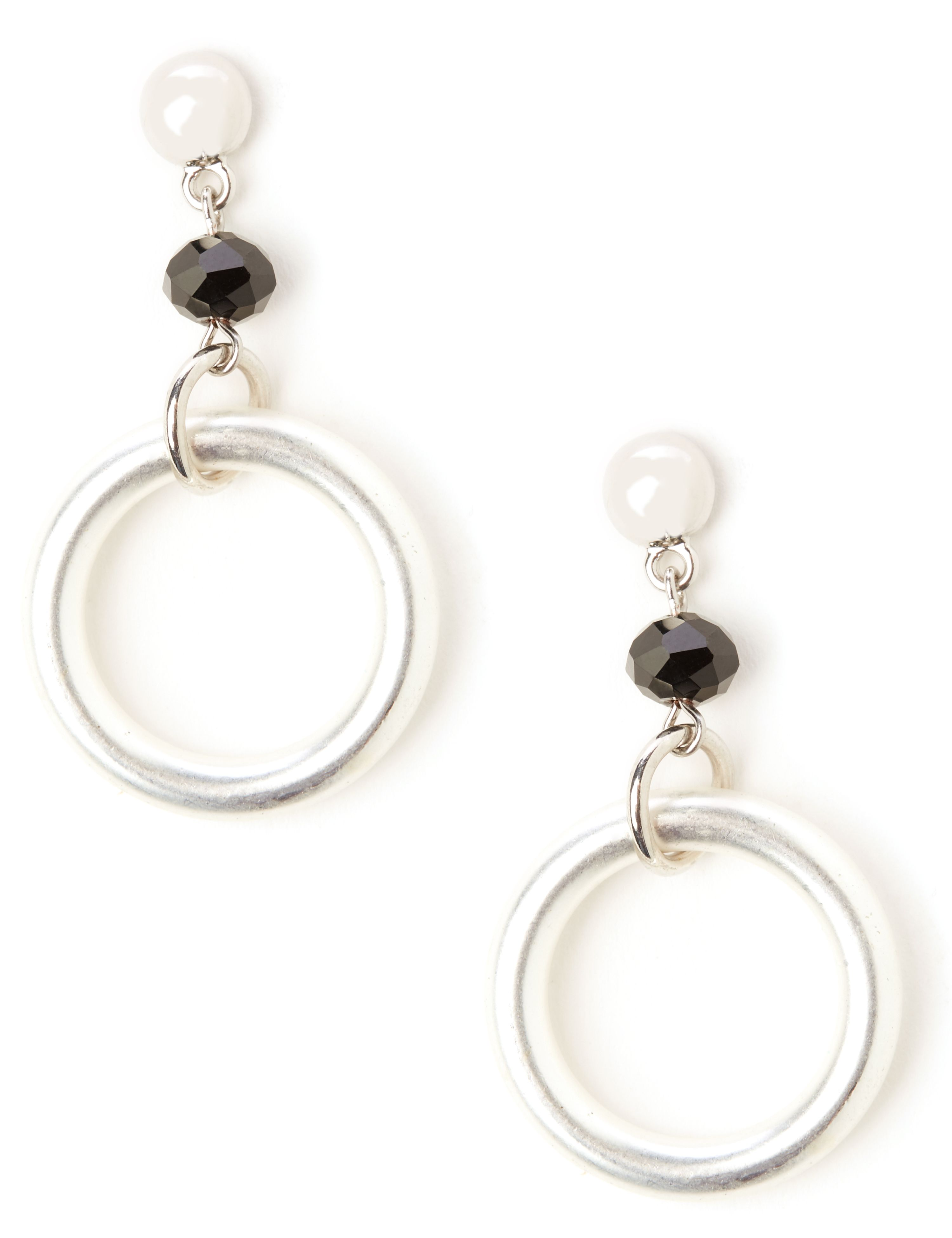 Loop & Layer Earrings NH Drop bead & ring PE KT0617E9 MP-300097843