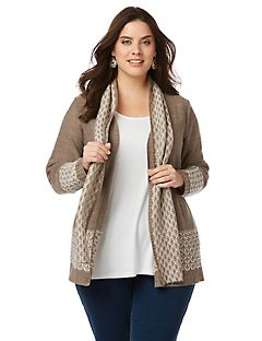 Touch of Texture Cardigan and Scarf