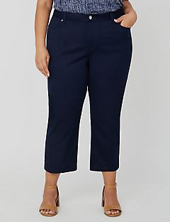 Sateen Stretch Capri