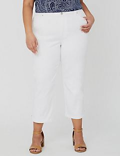 Modern Sateen Stretch Capri