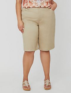 Sateen Stretch Bermuda