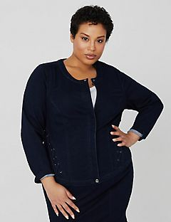 Curvy Collection Denim Jacket