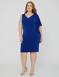 Curvy Collection One-Sleeve Dress