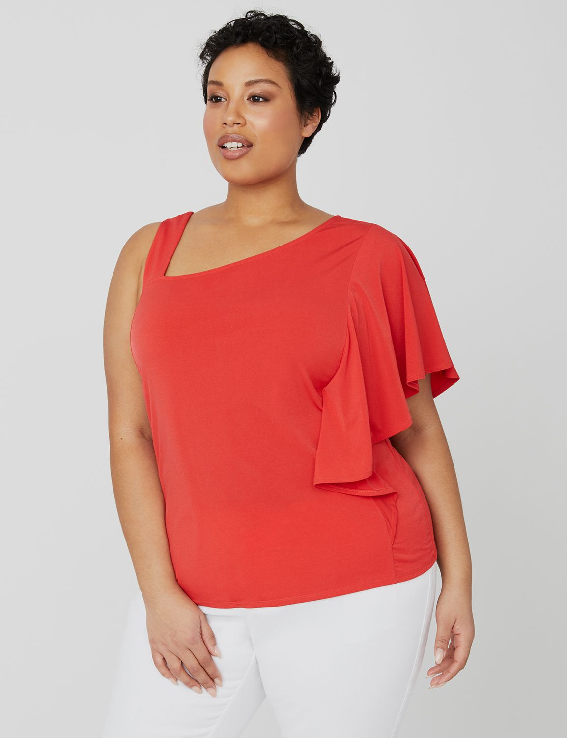 Curvy Collection One-Shoulder Top 1090281 Curvy Collection One Should MP-300098694