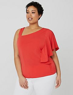 Curvy Collection One-Shoulder Top