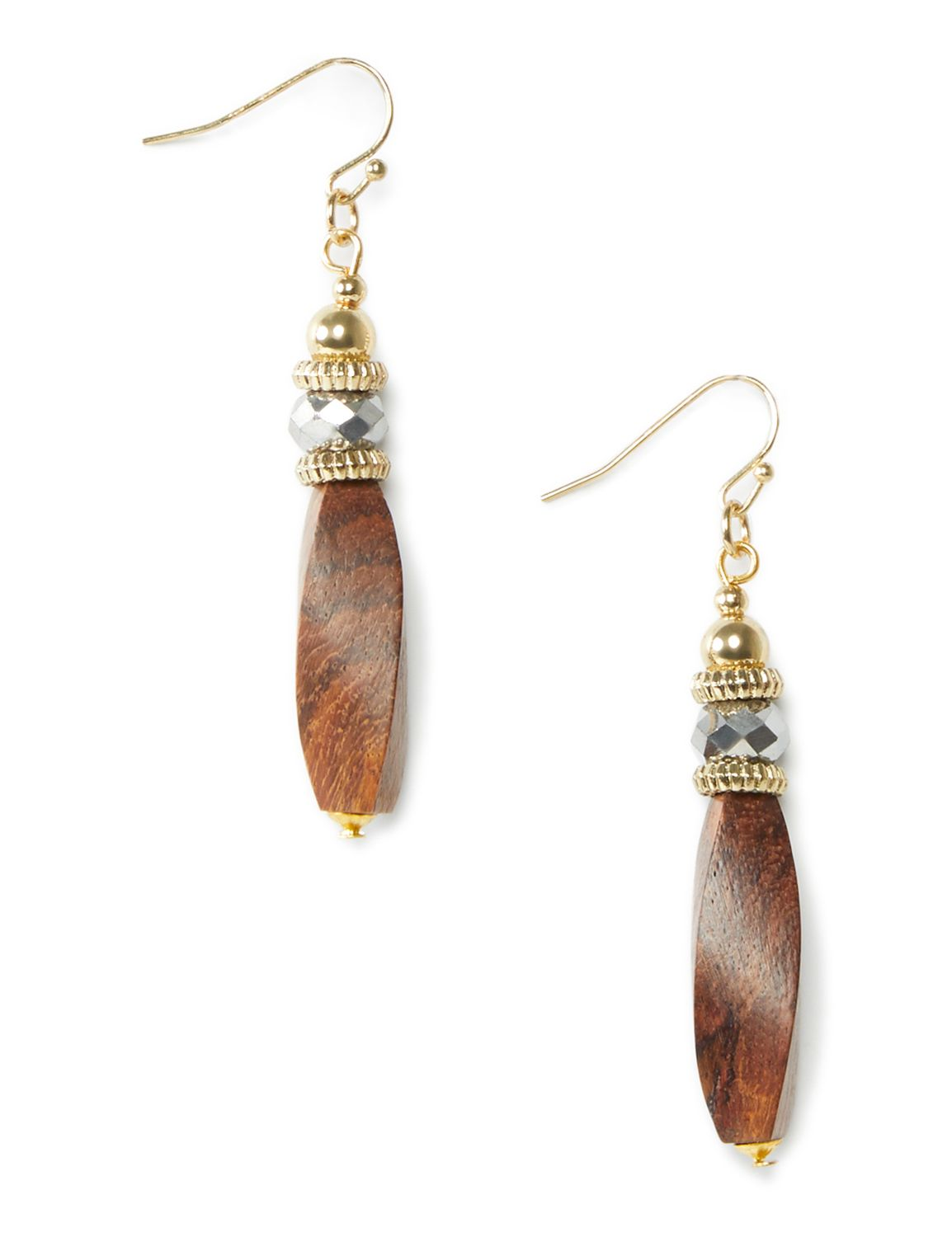 Forest Vision Earrings WU long wooden PE KT0728E11 MP-300099225