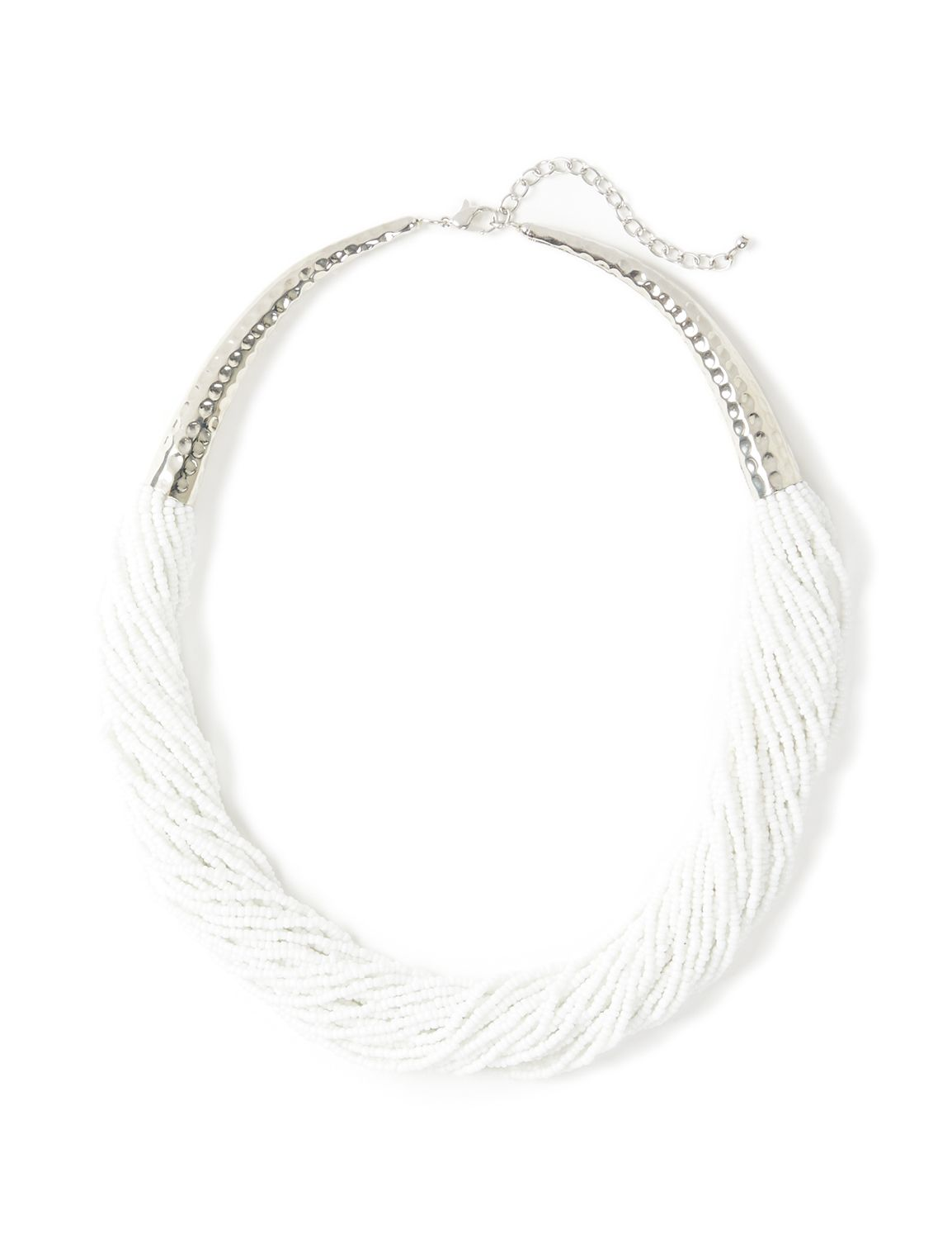 Ivory Gull Necklace LM Short seed bead bib NK KT0713N5 MP-300099216