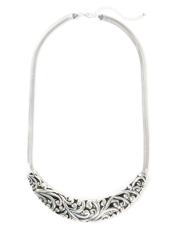 Filigree Omega Necklace NHF Short Briton Crescent NK KT0617 MP-300099200