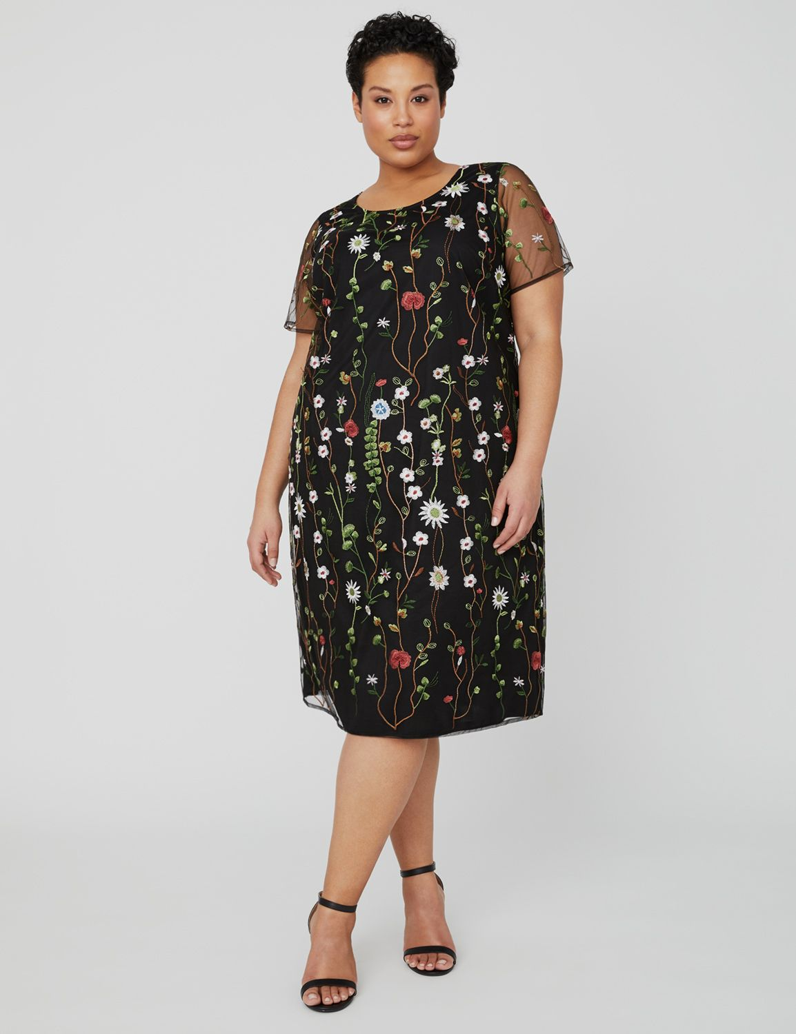 Cocktail A-Line Dress 1091380 Spense Embroidered Mesh A-l MP-300099169