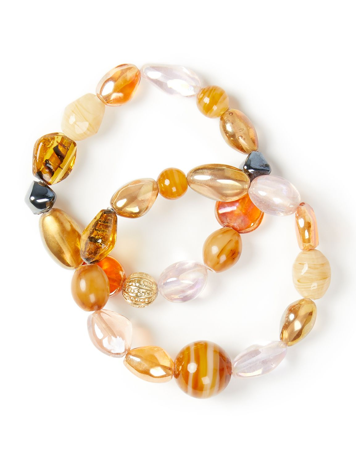 Scenic Beaded Bracelets NBF 2row marble beads BR KT0721B130 MP-300099218