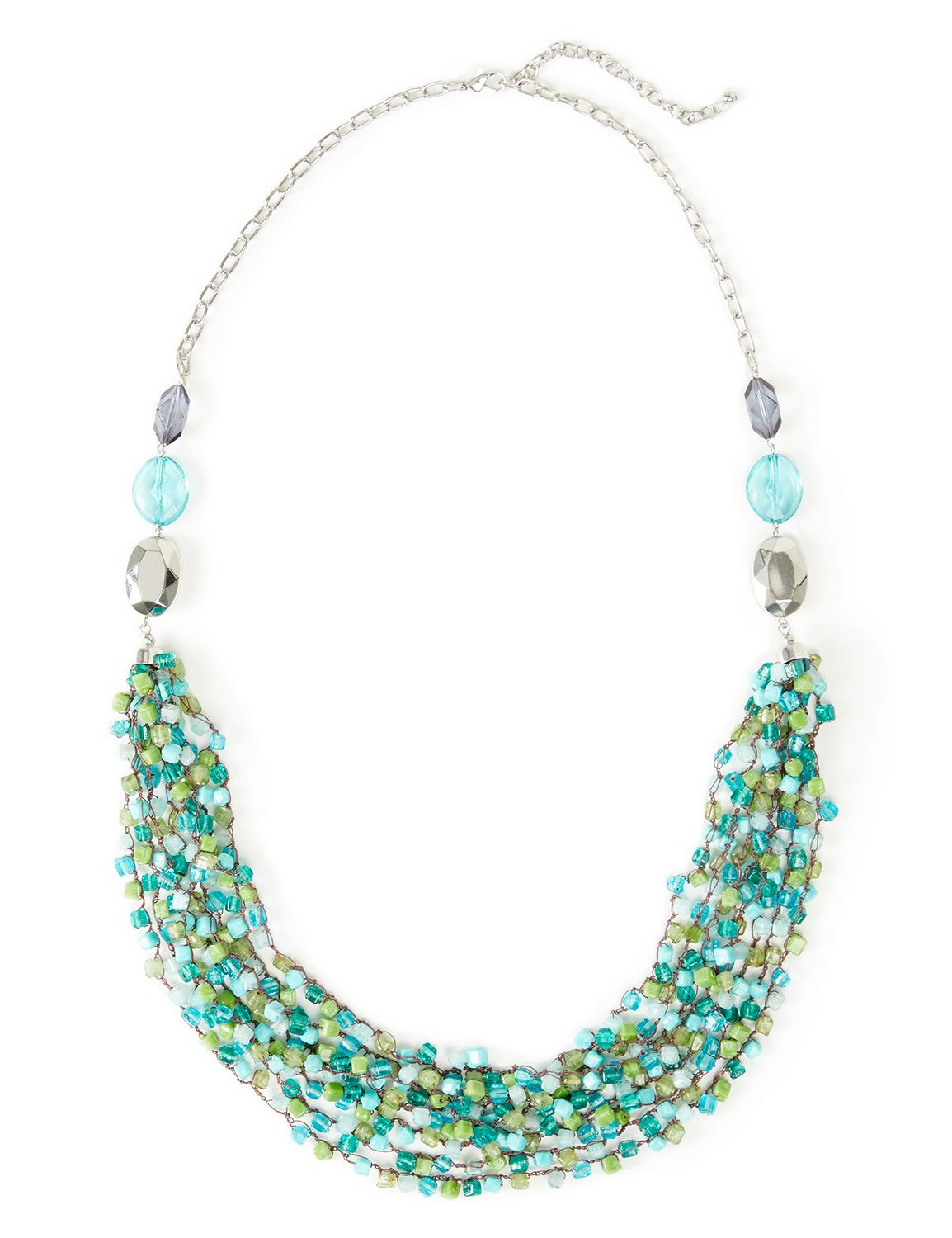 Coastal Tidefall Necklace CB Long beaded cubes bib NK KT0717N MP-300099214