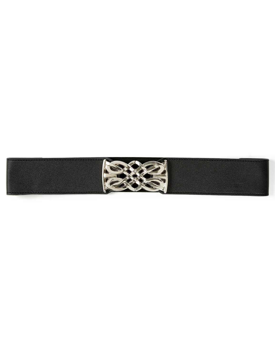 Medallion Stretch Belt Stretch with Silver Medallion LS503 MP-300099398