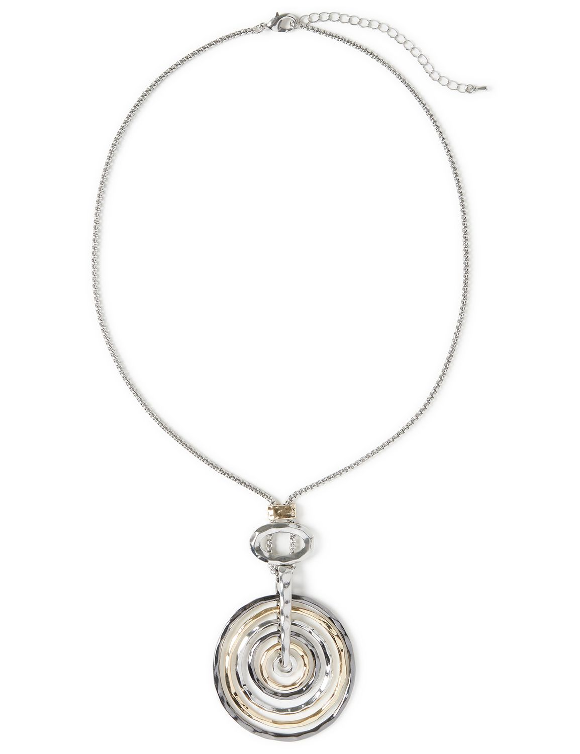 Concentric Pendant Necklace WU Short 6 ring pendant NK KT0717N2 MP-300099413