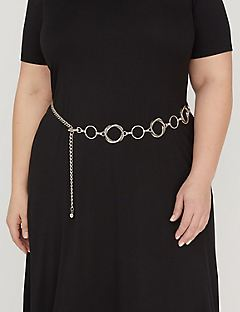 Double Twist Chain Belt