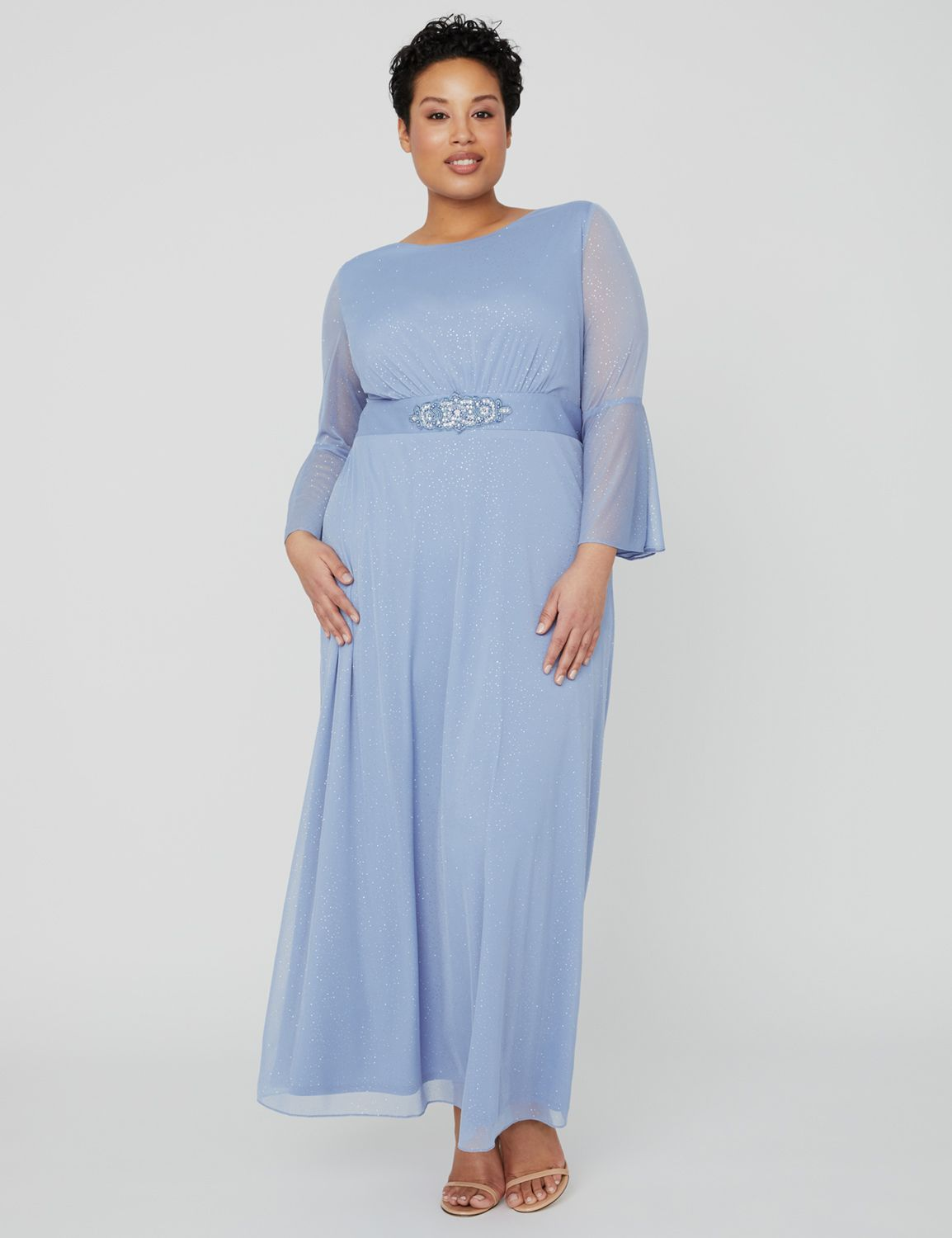 Twilight Sky Gown 1090991 Empire Waist Dress with Wai MP-300099842