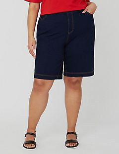 Comfort Fit Knit Jean Short