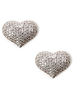 Sparkling Heart Earrings