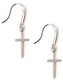 Sparkling Cross Earrings