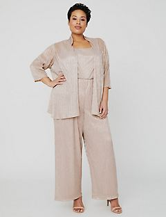 Shimmer Jumpsuit with Jacket