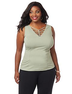 Curvy Collection Chevron Tank