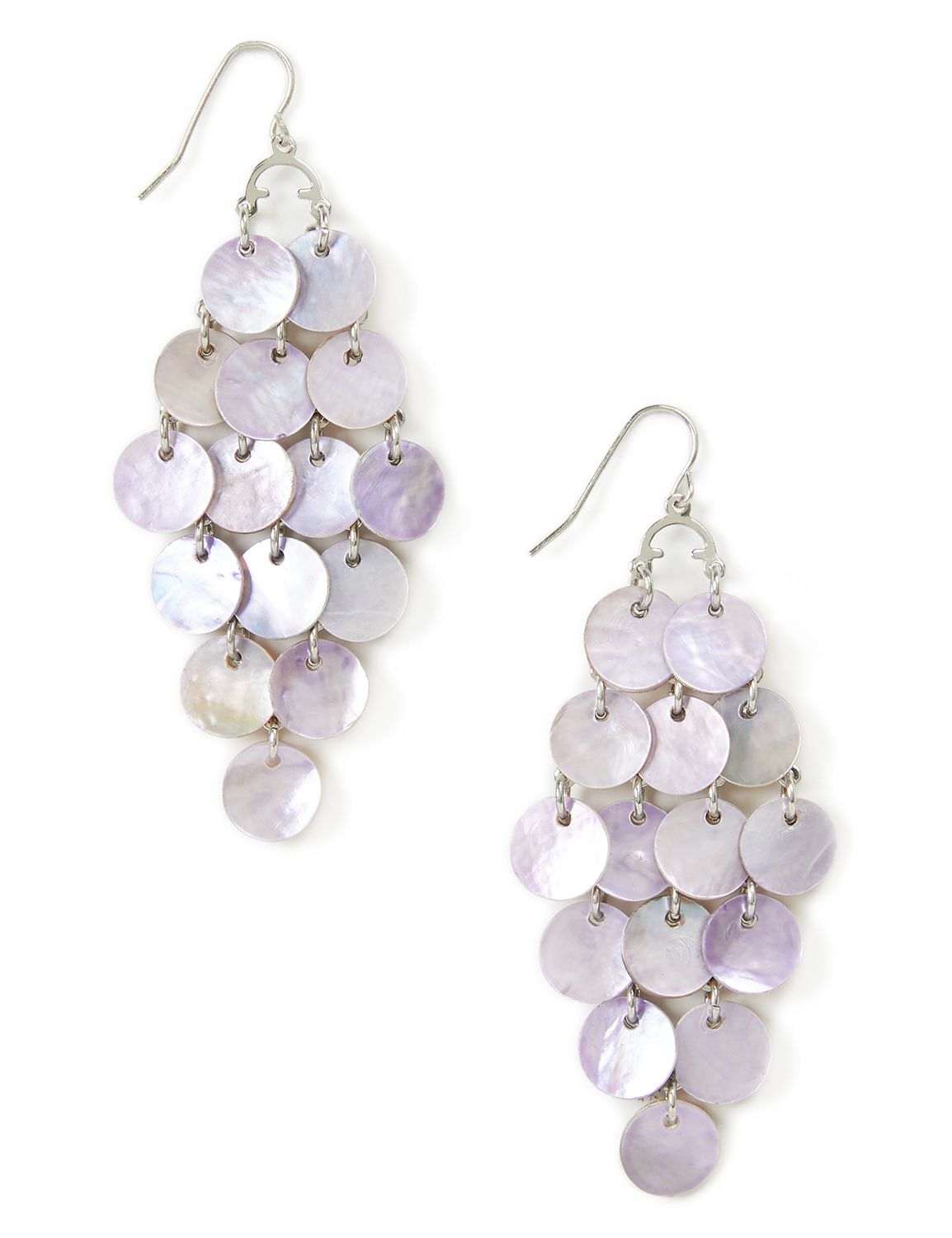 Cascading Chandelier Earrings LM shell drop PE KT0721E161 MP-300099922