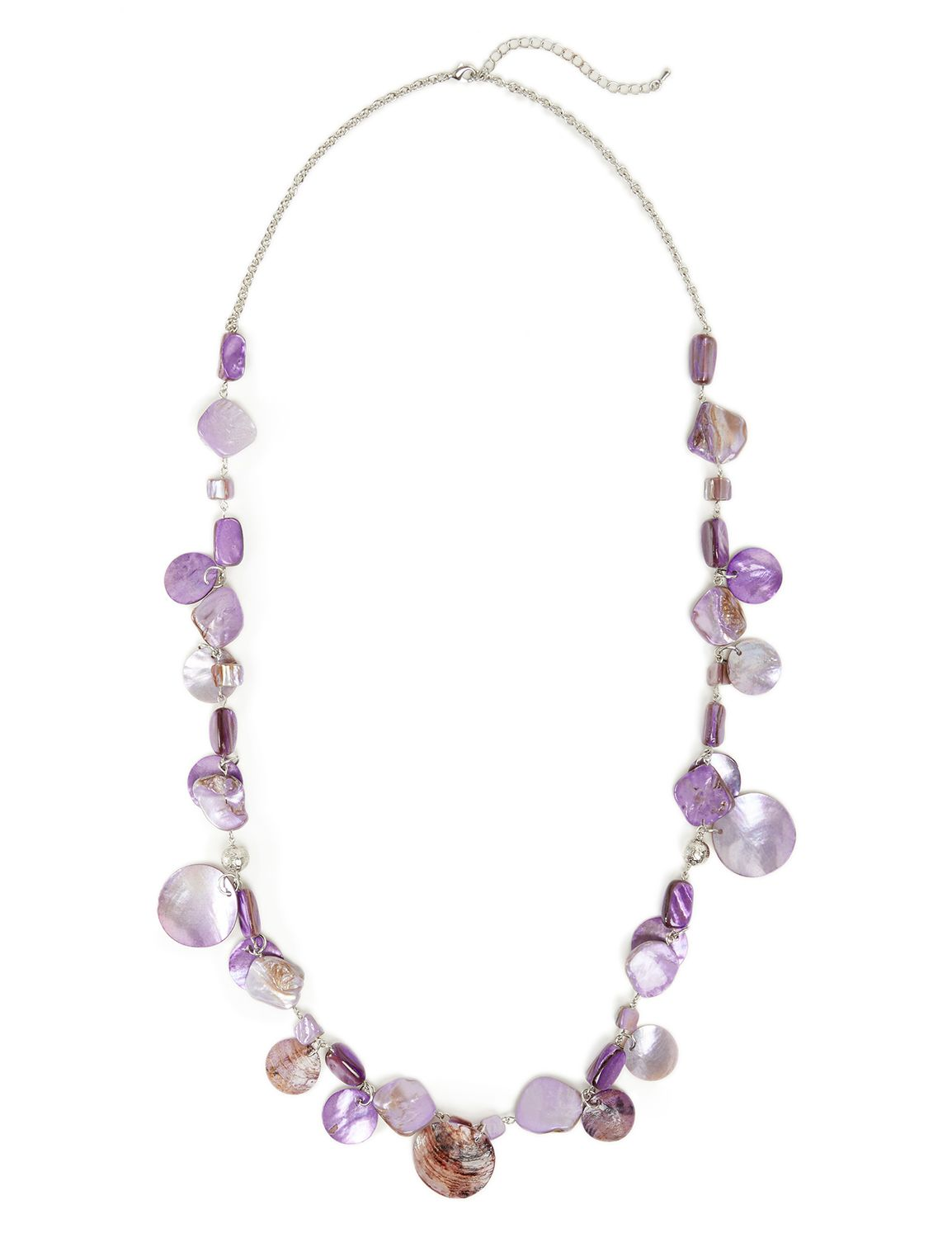 Lilac Seashell Necklace LM Long Shell rope purp NK KT0721N1 MP-300099951