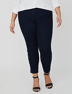 Curvy Collection Lace-Up Jean
